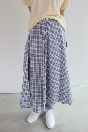 check sleeve skirt