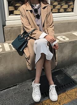 Slip simple trench coat