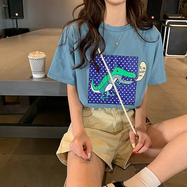 Dragon short-sleeved polo shirt