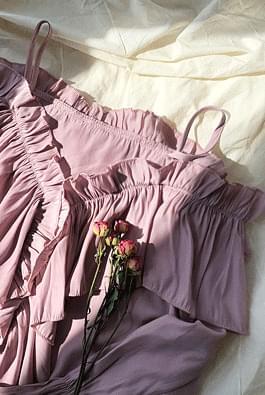 Fleece ruffle blouse
