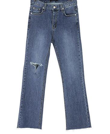 Jersey denim pants