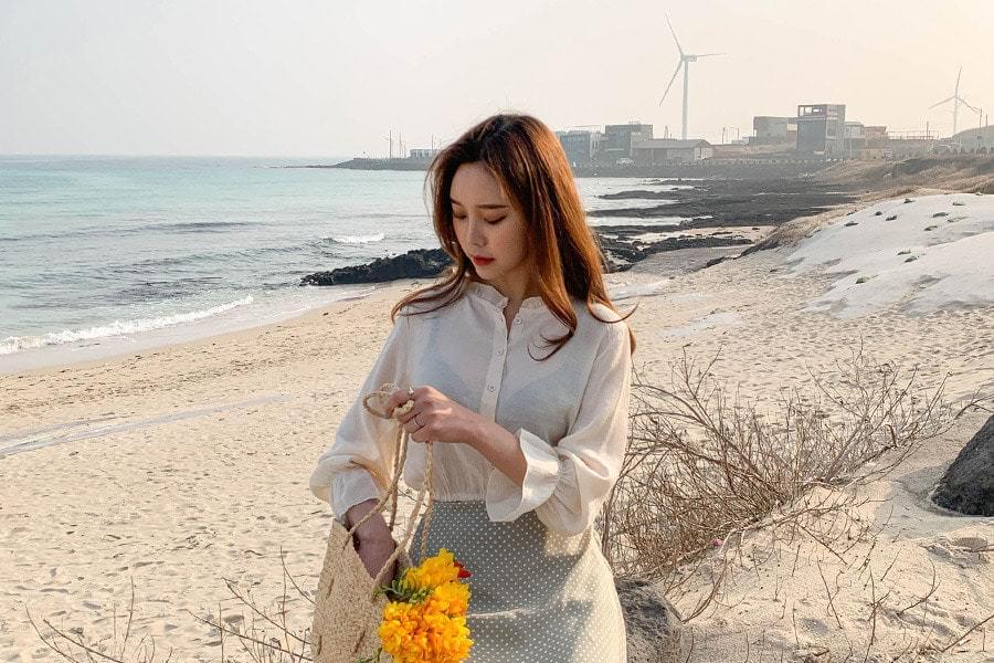 Crop Irene ruffle blouse
