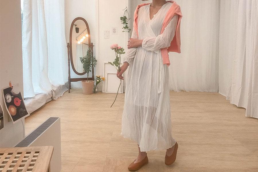 Lollora wrinkle long dress