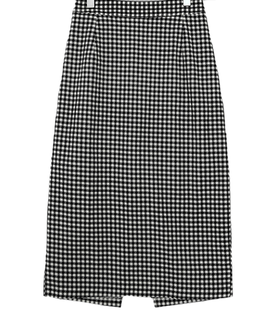 쫀쫀 gingham check skirt