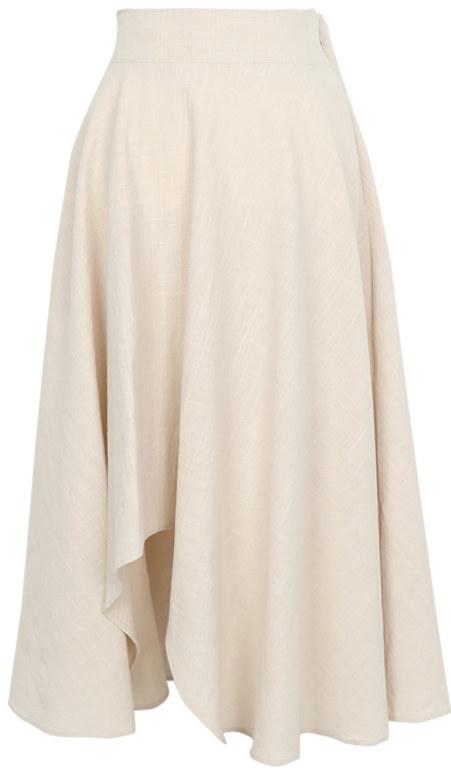 Minute linen flared skirt