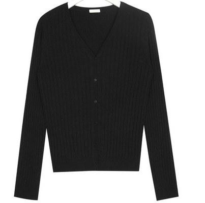living v-neck wool cardigan