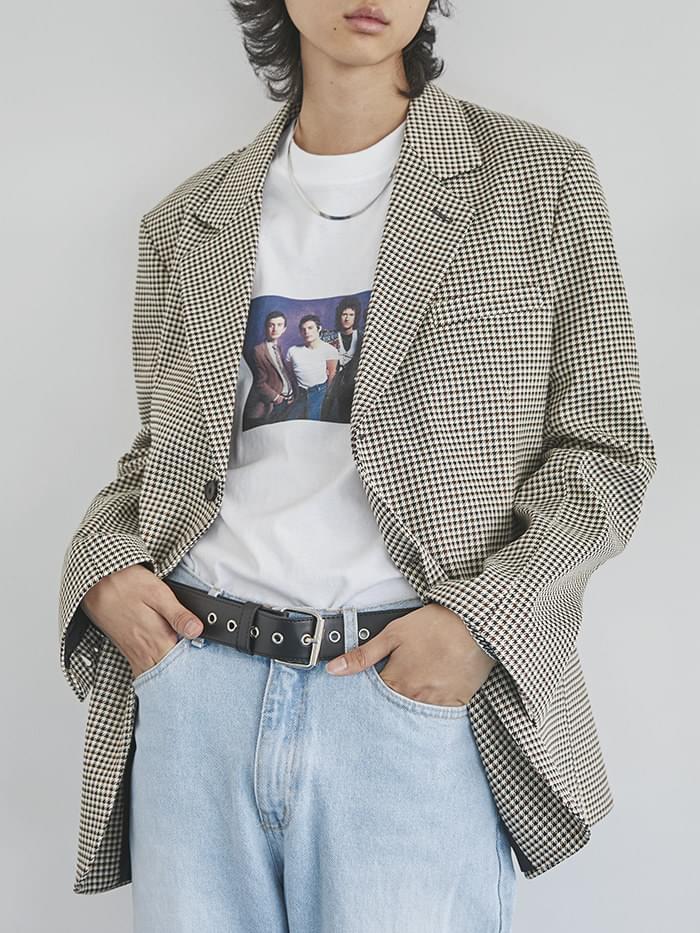 check single 2-button jacket - men