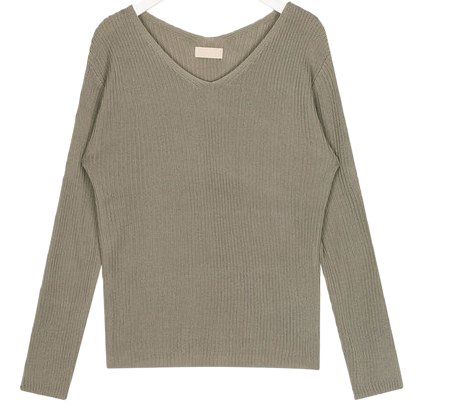 the date v-neck knit