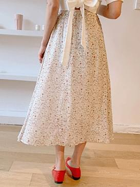Flower Rour Long Skirt