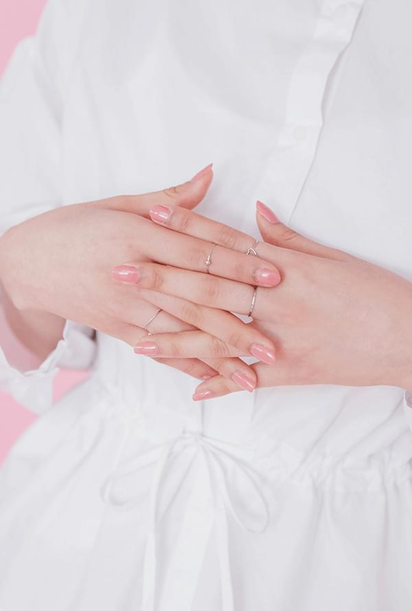 Pearl Heart 5SET Ring