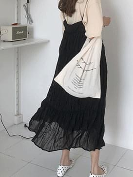 Long wrinkled Romi bustier dress