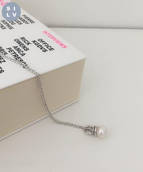 (silver925) bell necklace