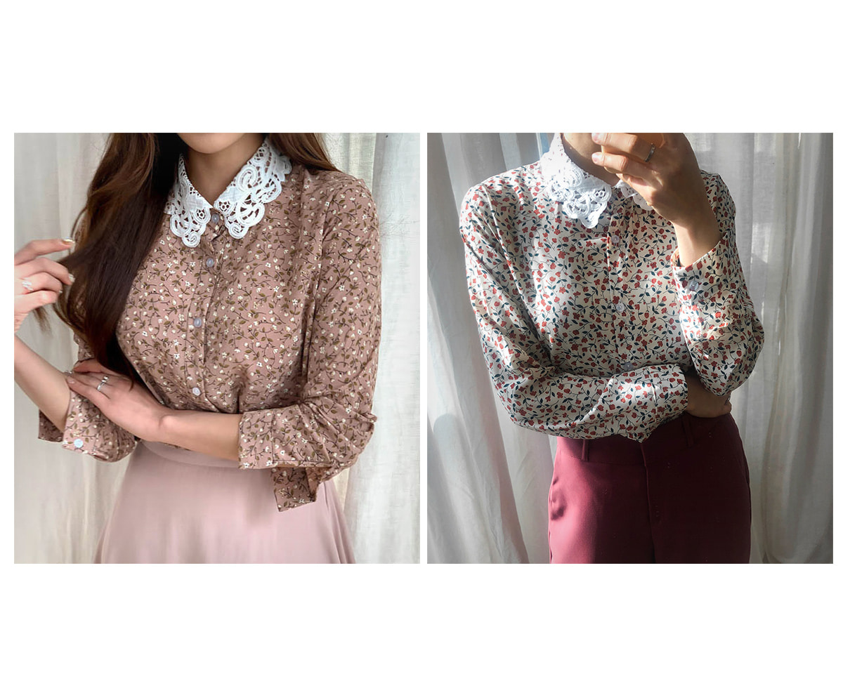 Lace Ray Flower Blouse