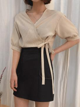 Check lum rap blouse