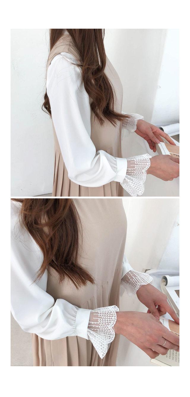 Pleated Moore Long Dress