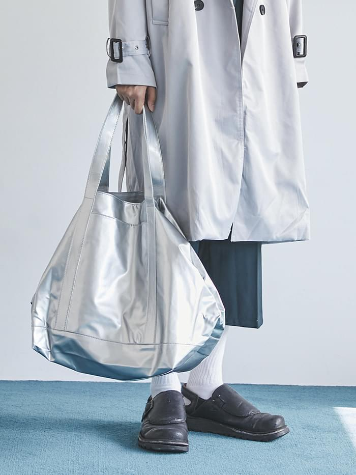 glossy big shopper bag (2 color) (인기상품 배송지연)