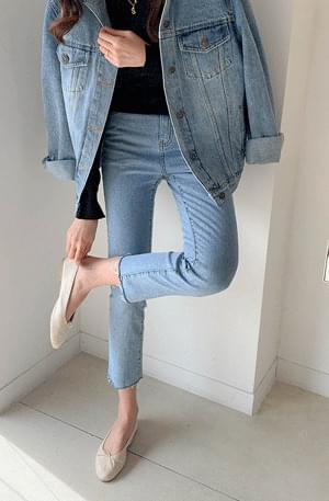 High slim denim pants