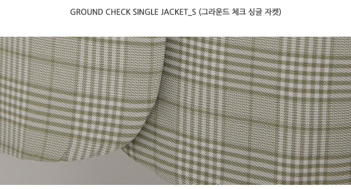 Ground check single jacket_S