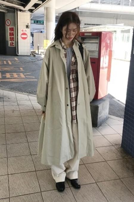 long snap trench coat