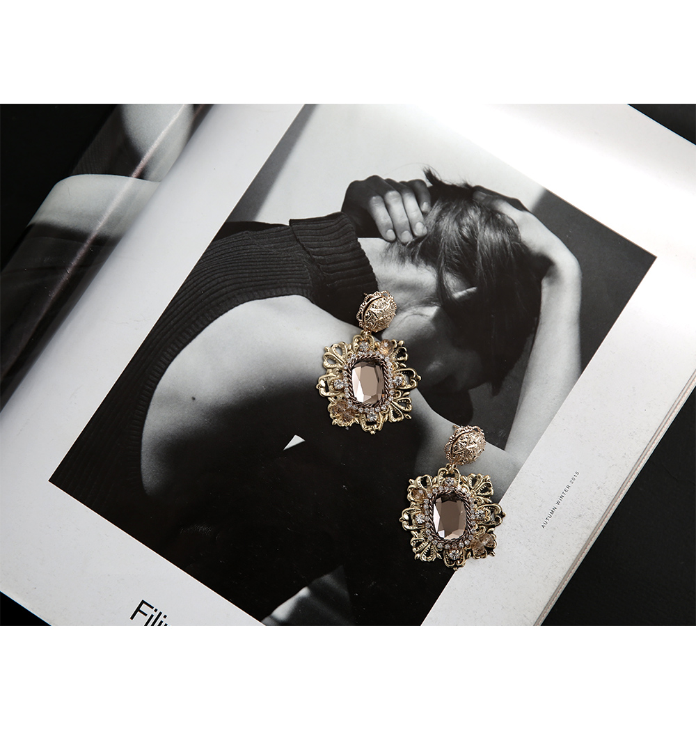 Antique Beads Earrings Titanium Needles