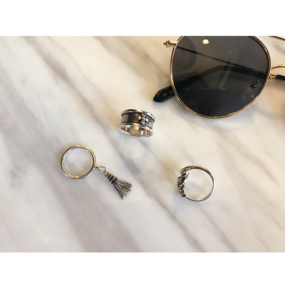 Silver tassel ring silver925