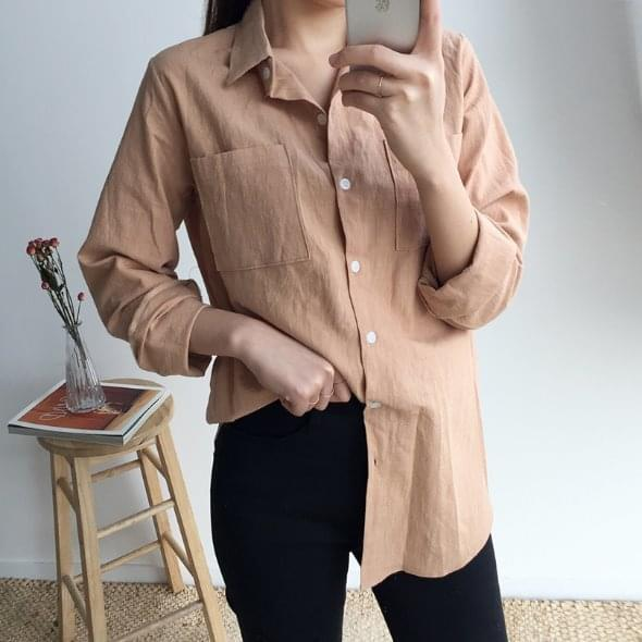 Two pocket linen shirt