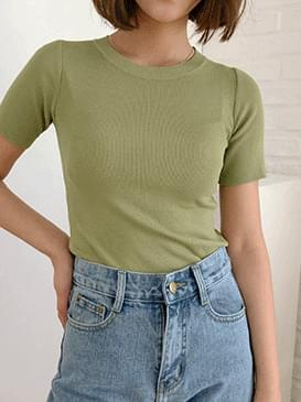 Soft-short sleeve knit