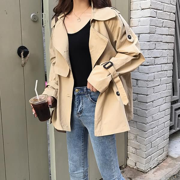 Mood double half trench coat