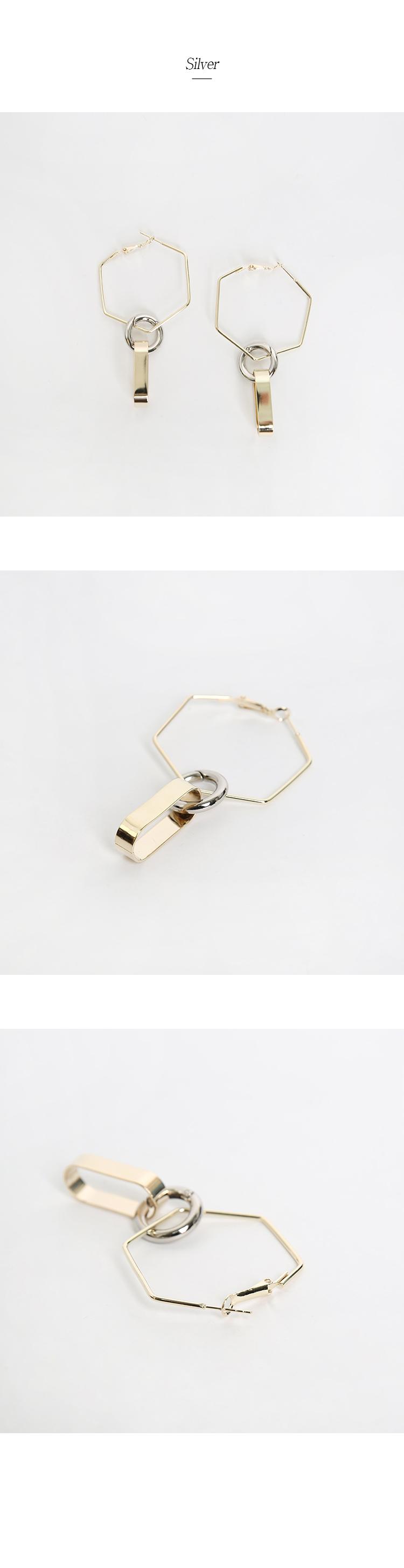 Figure Train Earrings Titanium Needle
