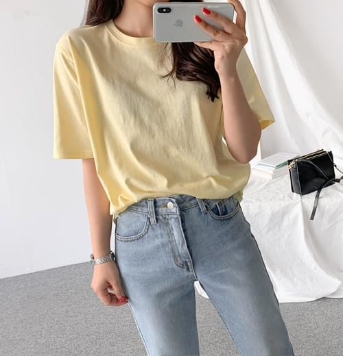 Colored round tee