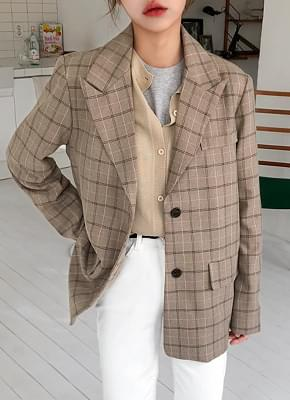 Dover check jacket