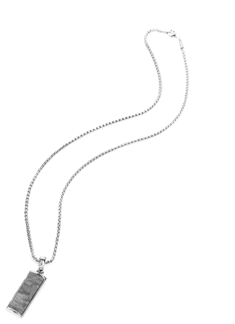 rectangle silver necklace