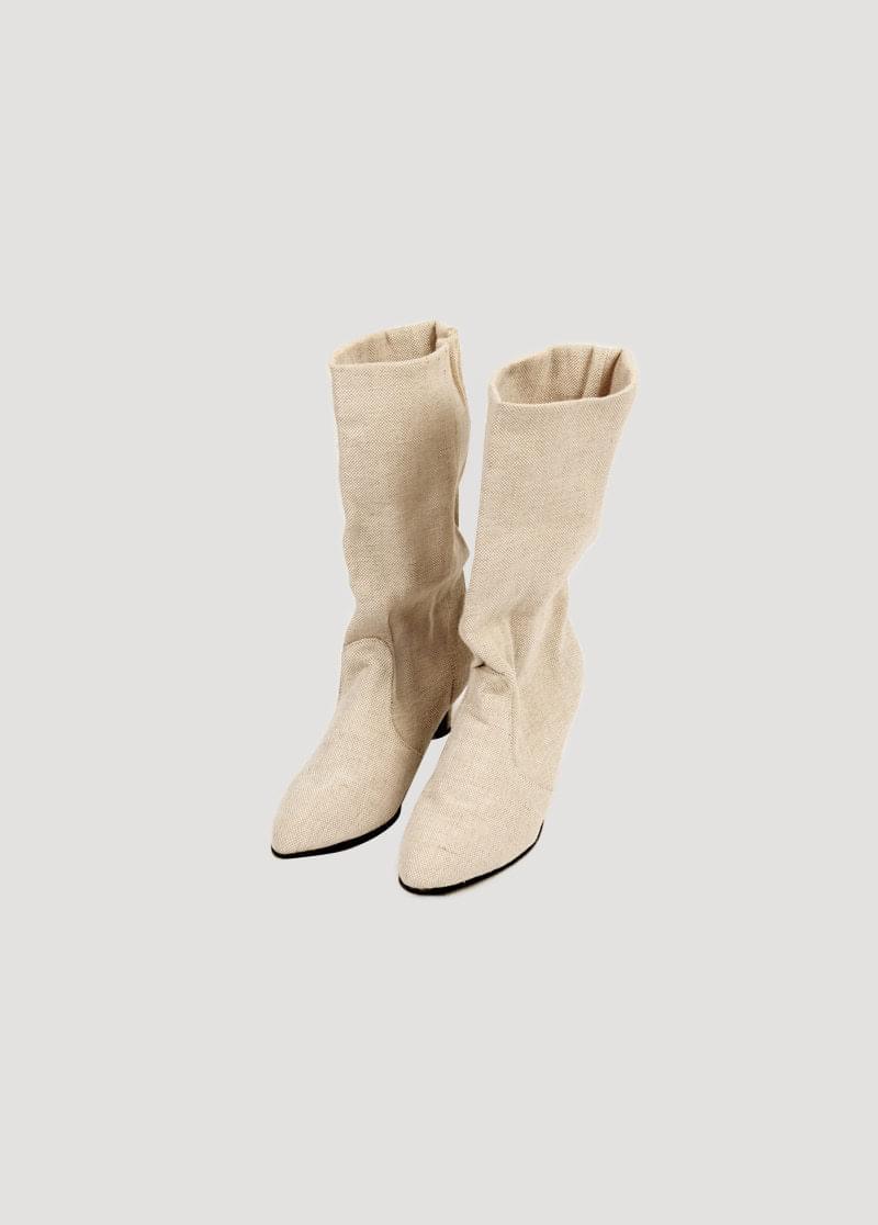 Canvas Heel Boots