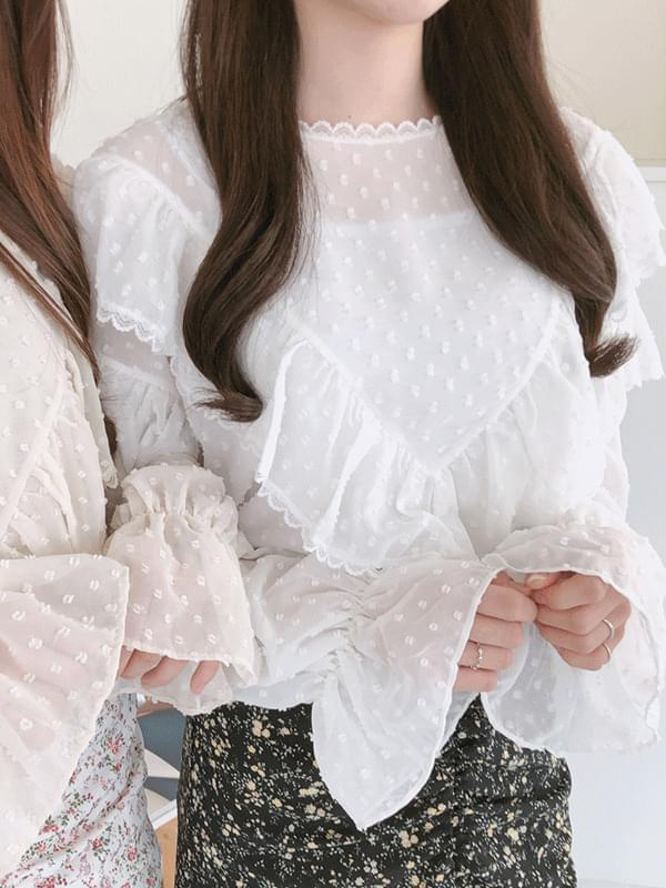 Shabet dot blouse