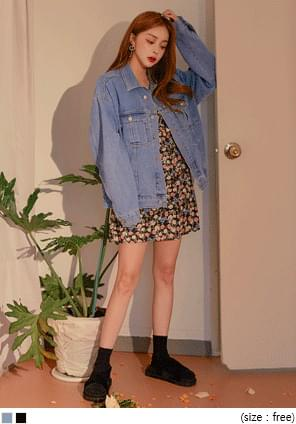 BORE DAMAGE DENIM JACKET