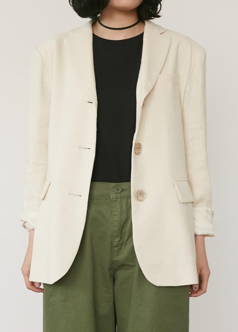 Neutral Button Jacket