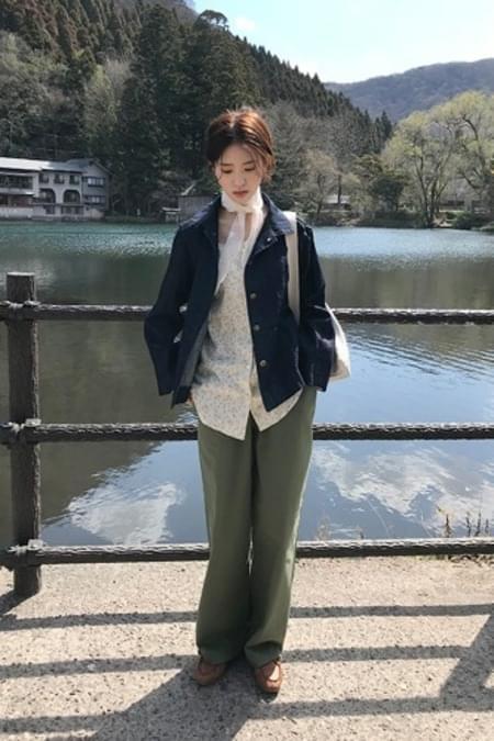cotton crop wide pants