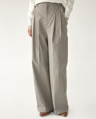 know cotton pintuck wide pants