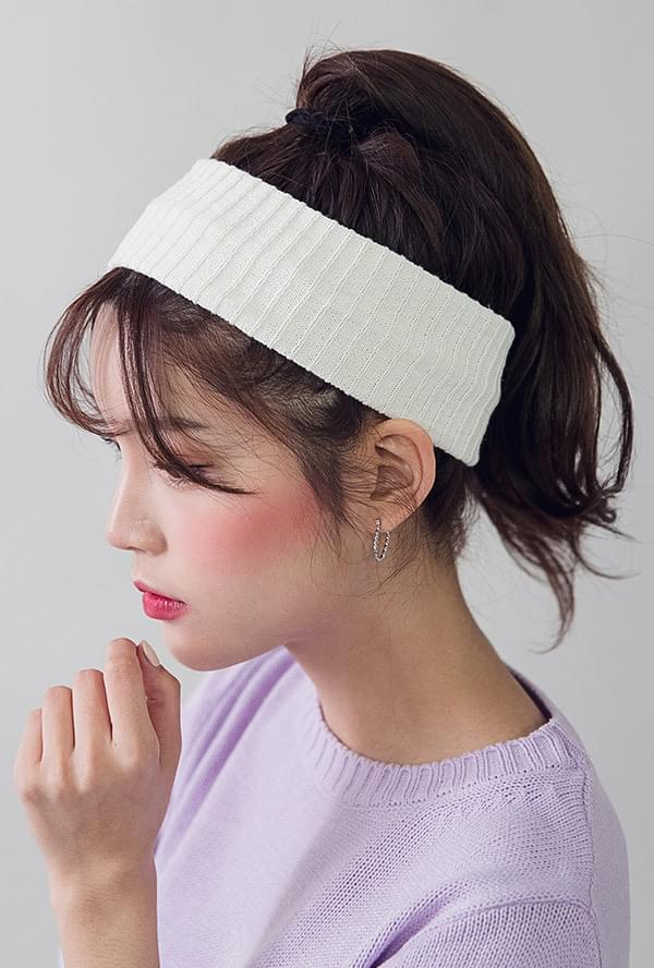 Beveled hair band