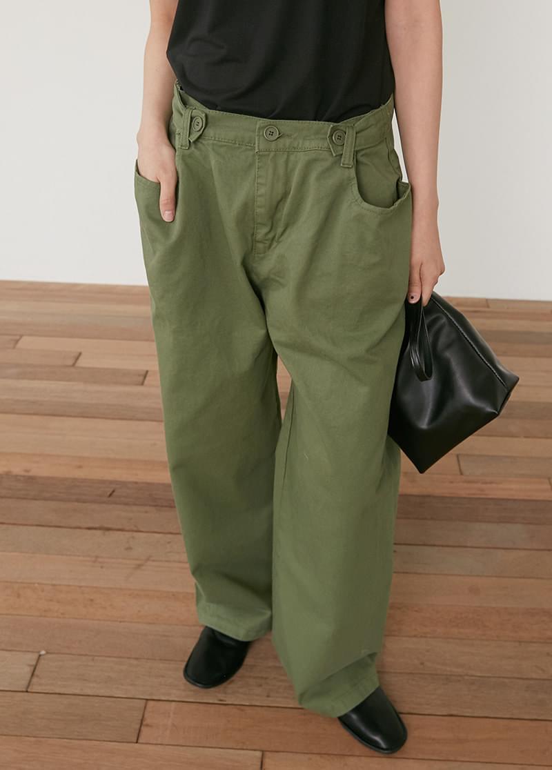 Button cotton pants