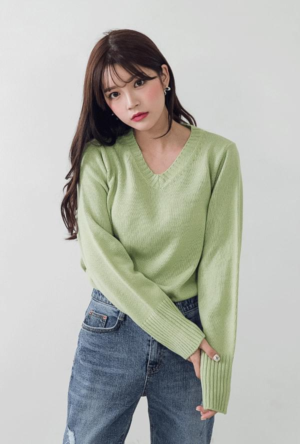 Eco Min V Neck Knit