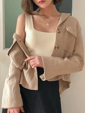 Pocket Cindy Linen Short Jacket