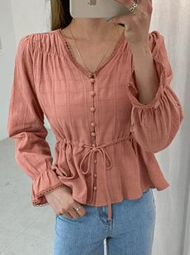 Linen mining shearing blouse