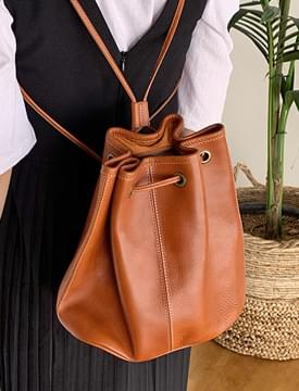 Glarus real leather bag_S (size : one)