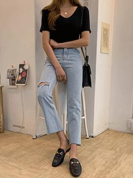 Cut Eddy Semi-Boot Cut Pants