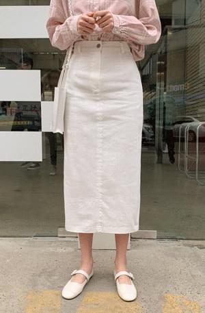 Clean white long skirt