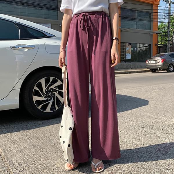 Free bending straight cotton pants