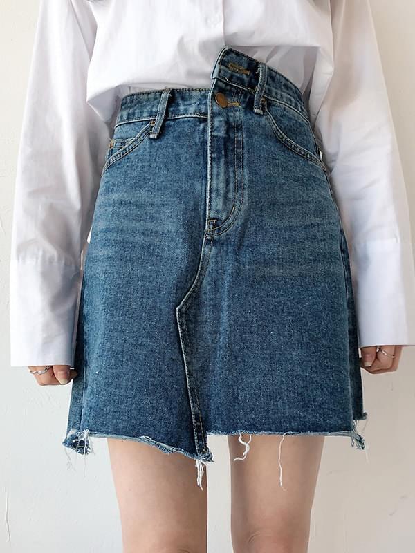 Unco Chocolate Denim Skirt