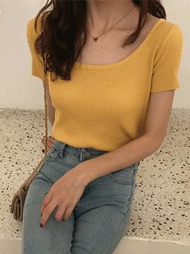 Round Linda short sleeve knit