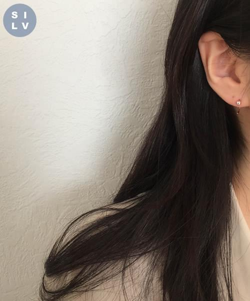 (silver925) cheese earring